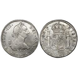 Guatemala, bust 4 reales, Charles III, 1779P, ex-Richard Stuart.