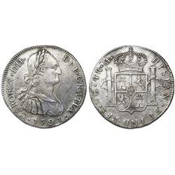 Guatemala, bust 4 reales, Charles IV, 1791M, ex-Richard Stuart.