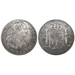 Guatemala, bust 4 reales, Charles IV, 1792M, ex-Richard Stuart.