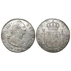 Guatemala, bust 4 reales, Charles IV, 1796M, ex-Richard Stuart.