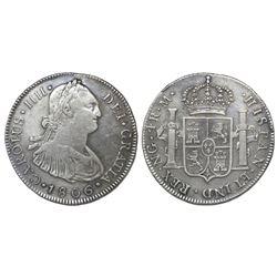 Guatemala, bust 4 reales, Charles IV, 1806/5M, ex-Richard Stuart.