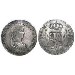 Guatemala, bust 4 reales, Ferdinand VII, 1808M, rare, encapsulated NGC VF 35, ex-Richard Stuart (sta