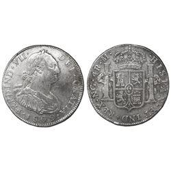 Guatemala, bust 4 reales, Ferdinand VII (bust of Charles IV), 1809M, ex-Richard Stuart.