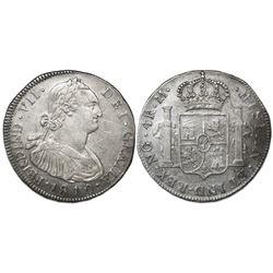 Guatemala, bust 4 reales, Ferdinand VII (bust of Charles IV), 1810M, ex-Richard Stuart.