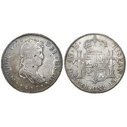 Guatemala, bust 4 reales, Ferdinand VII, 1817M, ex-Richard Stuart.