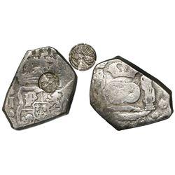 Quetzaltenango, Guatemala, 4 reales, Type I countermark (1838, rare) on a Guatemala, cob 4 reales, 1