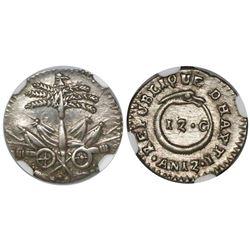 Haiti, 12 centimes, AN 12 (1815), encapsulated NGC AU 55.