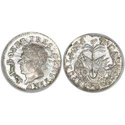 Haiti, 6 centimes, AN 15 (1818), Boyer, encapsulated ANACS AU 50, ex-Dana Roberts.
