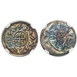 Hungary, denar, Geza I (as duke), 1064-74 AD, encapsulated NGC MS 62.