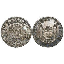 Mexico City, Mexico, pillar 8 reales, Ferdinand VI, 1756MM.