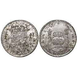 Mexico City, Mexico, pillar 8 reales, Charles III, 1770MF, with chopmark as from circulation in the