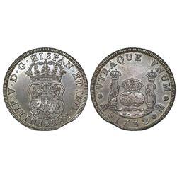 Mexico, City, Mexico, pillar 4 reales, Philip V, 1732, no denomination or assayer, extremely rare, e