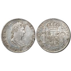Mexico City, Mexico, bust 8 reales, Ferdinand VII, 1819JJ.