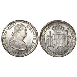 Mexico City, Mexico, bust 1 real, Charles IV, 1799FM, ex-Craig.
