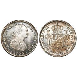 Mexico City, Mexico, bust 1 real, Charles IV, 1800FM, ex-Craig.