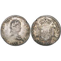 Durango, Mexico, bust 8 reales, Ferdinand VII, 1817MZ.