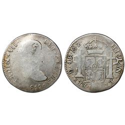 """Durango, Mexico, bust 4 reales, Ferdinand VII, 1817/6MZ, """"GRAITA"""" in legend, ex-Lavin, Ortiz Plate C"""