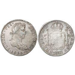 Guadalajara, Mexico, 8 reales, Ferdinand VII, 1814MR.