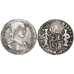 Zacatecas, Mexico, 2 reales, Ferdinand VII, 1816AG, ex-Pullin.