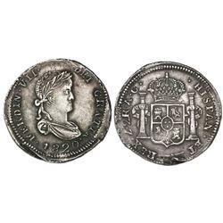 Zacatecas, Mexico, 2 reales, Ferdinand VII, 1820AG.