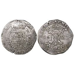 Burgundy, Spanish Netherlands (Dole mint), patagon, Philip IV, 1623, mintmark roseace.