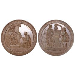 Vienna, Austria, proof bronze medal, 1865, 500th anniversary of the founding of the University of Vi