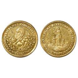 Potosi, Bolivia, 1 escudo proclamation medal, 1854, Belzu, with NGC MS 61 tag.