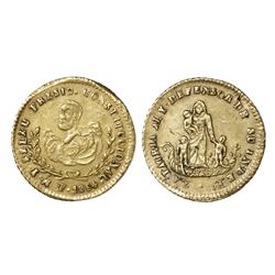 Potosi, Bolivia, 1/2 escudo proclamation medal, 1854, ex-Newman, with NGC AU 53 tag.