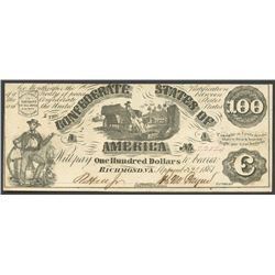 Richmond, CSA, 100 dollars, 2-9-1861.