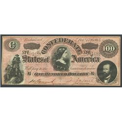 Richmond, CSA, 100 dollars, 17-2-1864, Havana counterfeit.