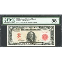 Philippines, Philippine National Bank, 20 pesos, 24-3-1937, series 1937, certified PMG AU 55 Net.