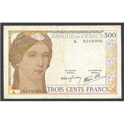 France, Banque de France, 300 francs, ND (1938).