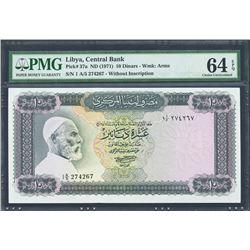 Tripoli, Libya, Central Bank of Libya, 10 dinars, no date (1971), series 1 A/5, certified PMG Choice