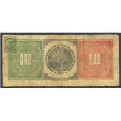 Chihuahua, Mexico, Banco Minero, 10 pesos, 1910, series V.3, Independence Centenary issue.