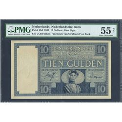 Amsterdam, Netherlands, Nederlandsche Bank, 10 gulden, 16-3-1932, certified PMG AU 55 Net - Previous
