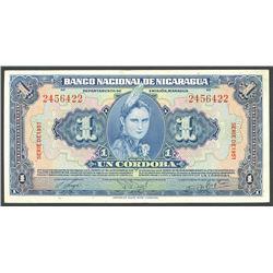 Lot of two Managua, Nicaragua, Banco Nacional, 1 cordoba notes: 1941 and 1951.