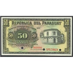 Asuncion, Paraguay, Banco de la Republica, 50 pesos fuertes specimen, 30-12-1920.