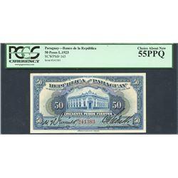 Paraguay, Banco de la Republica del Paraguay, 50 pesos, 25-10-1923, certified PCGS Choice About New