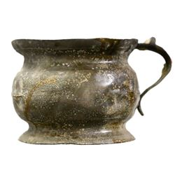 Pewter chamber pot from HMS Stirling Castle (1703).