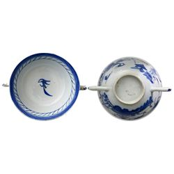 Chinese export porcelain two-handled cup from the Diana (1817).