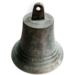 Large brass ship's bell from an early 1800s Lake Ontario wreck.
