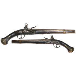 European horseman's mid-1700s pistol.