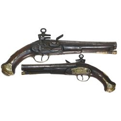 Spanish military officer's miquelet pistol, 1790-1800.
