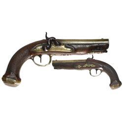 French officer's pistol, ca. 1800.