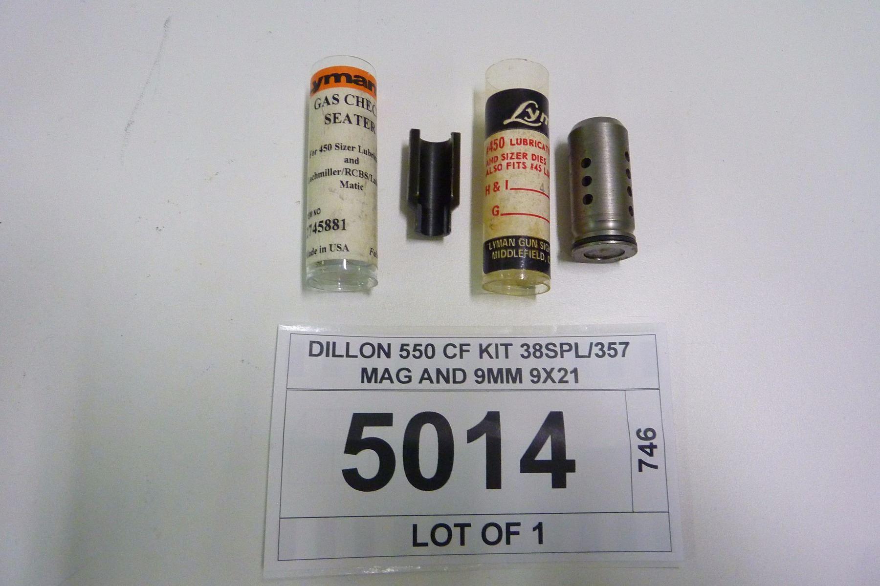 DILLON 550 CF KIT 38SPL/357 MAG AND 9MM 9X21