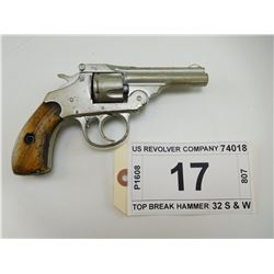 US REVOLVER COMPANY , MODEL: TOP BREAK HAMMER , CALIBER: 32 S & W