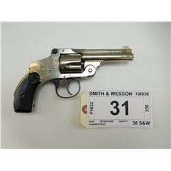 SMITH & WESSON , MODEL: TOP BREAK 38 NO 2 SAFETY HAMMERLESS MOD 4 , CALIBER: 38 S&W