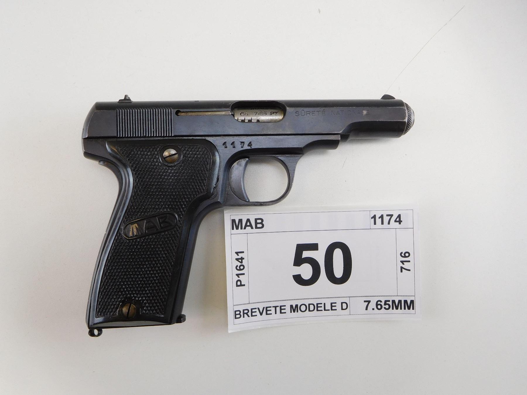 MAB , MODEL: BREVETE MODELE D , CALIBER: 7 65MM
