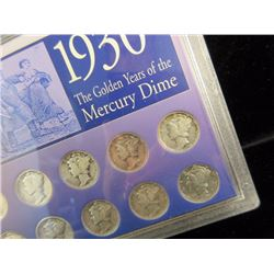 1930's Mercury Dime Lot