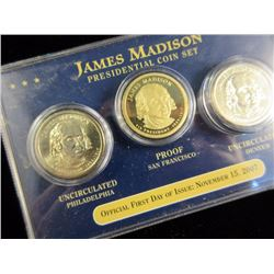Lot of two: James Madison Presidential Coin Set